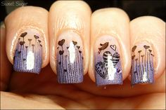 Heart French Manicure | Looking FANCY  this site is ridic.... so many crazy nail designs!