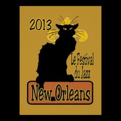 Jazz Fest 2013 Le Chat Noir Poster from local artist-