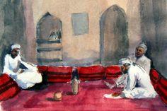 Oman - zahlreiche Aquarelle aus dem wunderschönen Muskat, Salalah und Nizwa