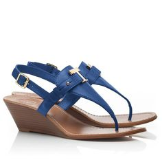 Tory Burch Casey Wedge Thong Sandal ($265) ❤ liked on Polyvore
