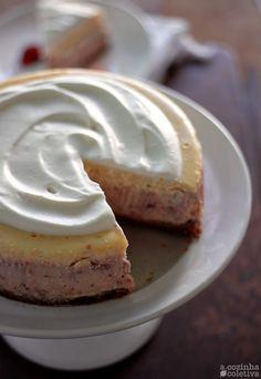 Strawberry-and-cream cheesecake