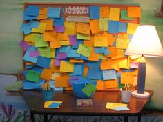 Prayer wall..what a good idea..want to do this with the kids :)