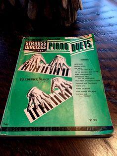 Vintage 1941 Strauss Waltzes for Piano Duets Strauss Waltz Sheet Music
