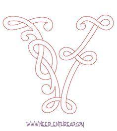 Monogram for Hand Embroidery: Celtic V – Needle'nThread.com