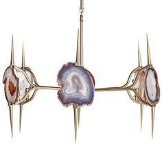 Eclipse Agate Chandelier - Very Modern Sputnik