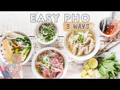 Easy PHO 3 Ways! Best Pho Recipe, Mochi Cake, Chicken Pho, New Recipes, Easy Recipes, Healthy Chicken Recipes, Cravings, Easy Meals, Kitchens