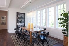 Modern English - modern - dining room - minneapolis - Murphy & Co. Custom Home Builders, Custom Homes, White Dining Room Furniture, Dining Rooms, Black And White Dining Room, Black White, White Houses, Dining Room Design, Home Interior Design