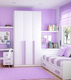 Purple bedroom girl (purple bedroom ideas) Tags: purple bedroom ideas purple bedroom teen purple bedroom boheiman purple bedroom paint grey and purple bedroom Space Saving Bedroom, Small Room Bedroom, Trendy Bedroom, Bedroom Colors, Girls Bedroom, Teen Room Decor, Bedroom Decor, Bedroom Ideas, Bedroom Paint Design