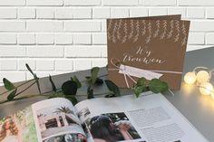 Jullie trouwen? Zeg het met deze ecolook. www.tadaaz.be | Tadaaz #wijtrouwen #huwelijk #eco #kraft #uitnodiging Photo Wall, Lettering, Frame, Home Decor, Picture Frame, Photograph, Decoration Home, Room Decor, Drawing Letters