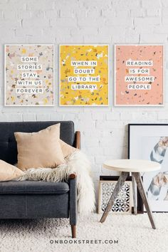 If you love to decorate your reading nook with book posters just as much as I do, this book lover quote print set might be just the right thing for you. PS: Also makes a great book lovers gift. Click to see the whole 6-piece set and get your hands on it. Happy reading and decorating! Quotes For Book Lovers, Book Lovers Gifts, Book Gifts, Gifts For Bookworms, Gifts For Readers, Happy Reading, Reading Nook, Quote Art, Quote Prints