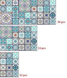 Vinyl Stickers Moroccan Portuguese Arabic Tiles/Tiles for Kitchen/Bathroom Backsplash/ Floor decals/Stair Riser Decal/Removable Peel & Stick Floor Decal, Floor Stickers, Moroccan Arabic, New Surface, Stair Risers, New Sticker, Kitchen Tiles, Wooden Tables, B & B