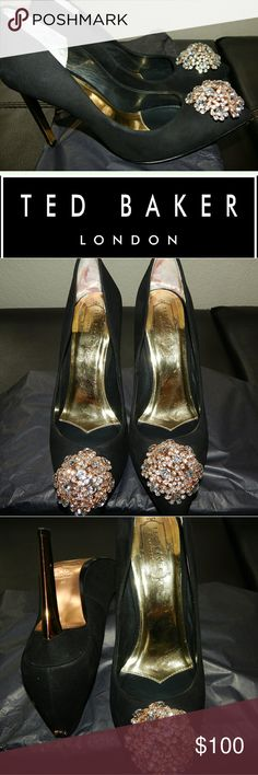 Ted Baker London Black and Gold Pumps Used Once. Great Condition  (see pics)  No box included Ted Baker London Shoes