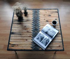 Reclaimed wood coffee table by UniqueIndustry on Etsy, $395.00. Can't go wrong with wood.