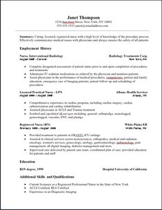 licensed practical nurse resume httpwwwresumecareerinfolicensed