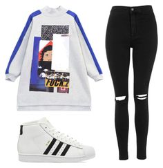 Untitled #113 by marc-anthony on Polyvore featuring mode, Chicnova Fashion, Topshop and adidas