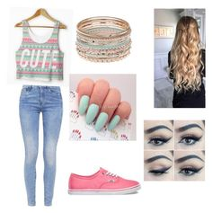 """""""Untitled #9"""" by bellaboo2123 ❤ liked on Polyvore featuring G-Star and Vans"""