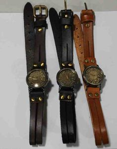 wrapped in time leather bracelet watch cuff watch. I want them all. 39.95!!!!!
