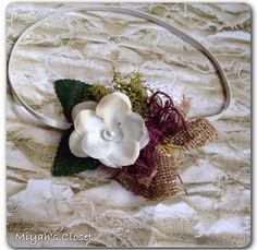 Flower Newborn Photo Prop Natural Style Newborn Photo Prop Lace Burlap Headband