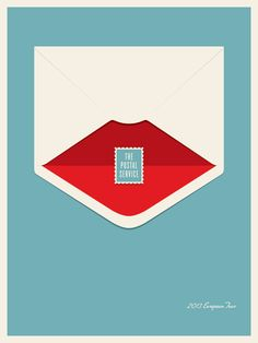 Like this simple poster - flat look but not completely flat. The Postal Service by Jason Munn #poster #design #print