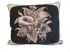 19thC. Beaded Needlepoint Pillow