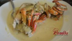 Cangrejos al ajillo Salmon Pasta, Tamales, Risotto, Shrimp, Seafood, Cooking Recipes, Cooking Ideas, Food And Drink, Meat