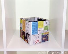How To Make An Origami Trash Can!