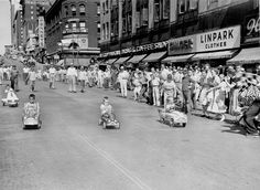 They were the Races of the Century! On June 25, 1954, kids between 3½ and 6 years old raced their pedal cars and tricycles down Douglas between 15th and 16th Streets. Officials started the races with green and checkered flags and judged the finishes, and a loud speaker played sounds from the Indianapolis Speedway. But the kids provided all the entertainment. THE WORLD-HERALD