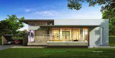 แบบบ้านชั้นเดียว: แบบบ้านชั้นเดียว หน้ากว้าง 30 ม. Modern Style 3 ห้...