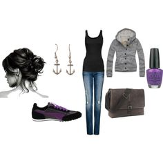 Taking it back to college days., created by klc2485.polyvore.com