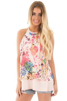 Lime Lush Boutique - Blush Halter Tank with Floral Chiffon Overlay, $46.99 (https://www.limelush.com/blush-halter-tank-with-floral-chiffon-overlay/)#fashion#spring#happy#photooftheday#followme#follow#cute#tagforlikes#beautiful#girl#like#selfie#picoftheday#summer#fun#smile#friends#like4like#pinterestfollowers