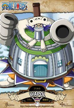 """One Piece - Wapol """"El Bliking"""" es un personaje extravagante que tiene una mandibula de hierro. Es el principal antagonista de la Saga de Drum y de la novena película."""