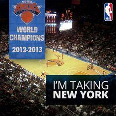 I'm taking the @New York Knicks