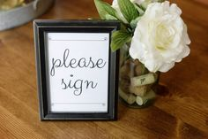 diy baby shower table signs