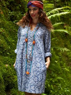 The ML 45 Milly Tunic Shirt shown on location xx