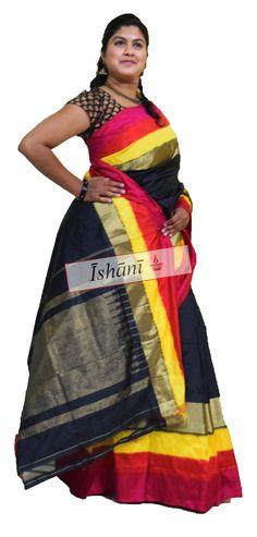 Ikat pure silk saree SKU: ISB5032 Contact : +918861255270 ishanisarees@gmail.com www.facebook.com/ishanisarees