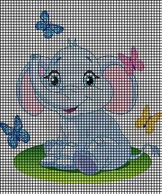 Baby Elephant & Butterflies Crochet Pattern
