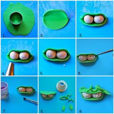 simple fondant tutorial for Two Peas in a Pod cake and cupcake topper :)