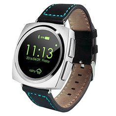 Generic A11 Leather Strap Bluetooth Smart Watch, Heart Rate / Pedometer / Sleep Monitor / Sedentary Reminder / Camera Remote Control(Silver). Smart Electronics. Smart Watches. Wearable Technology. Cell Phones & Accessories. Smart Wearable.