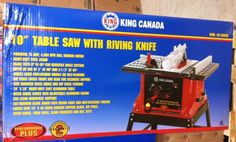 King Canada Tools KC-5005R 10  TABLE SAW WITH STAND AND RIVING KNIFE 15 amps NEW