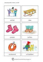 Kleuterjuf in een kleuterklas: Activiteiten met woordkaarten | Thema WINTER