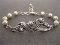 Lily of the Valley Bracelet - For all my Alpha Phis out there :)