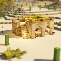 minecraft building ideas A house made of only two kinds of wood . Minecraft Desert House, Casa Medieval Minecraft, Minecraft World, Easy Minecraft Houses, Minecraft Plans, Amazing Minecraft, Minecraft House Designs, Minecraft Tutorial, Minecraft Blueprints