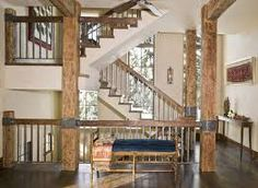 Rustic Staircase Ideas Rustic Stair Railing Craftsman Stair Railing Interior Metal Stair Railing Staircase Rustic With Bench Seat Blue Rustic Deck Railing Ideas Metal Stair Railing, Stair Railing Design, Staircase Railings, Staircases, Railing Ideas, Timber Staircase, Iron Railings, Staircase Ideas, Wood Stairs