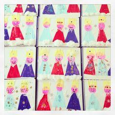Me encantaron los #ReyesMagos de #papel que hicieron mis #niños de 1ero de #Primaria hoy en clase de #arte