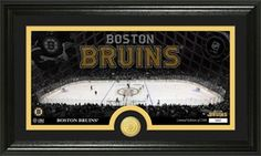 Boston Bruins Home Ice and Minted Coin Framed Picture