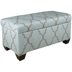 Skyline Furniture Storage Bench (Spring Breeze Mineral)