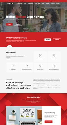 Payton Business Creative WordPress Theme is a fast theme for corporate, business. - Payton Business Creative WordPress Theme is a fast theme for corporate, business, creative, ecommer - Web Design Trends, Ux Design, Layout Design, Web Design Websites, Page Design, Website Layout, Website Themes, Website Designs, Website Ideas