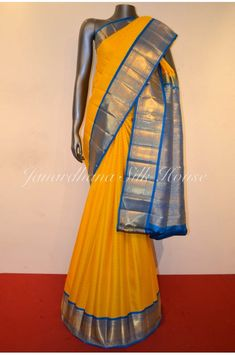WhatsApp @ View More Collections @ Yellow Saree, Blouse Designs Silk, Saree Collection, Silk Sarees, Collections, Classic, Wedding, Shopping, Beautiful