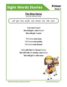 This Reading Comprehension Worksheet - The New Horse is for teaching reading comprehension. Use this reading comprehension story to teach reading comprehension. Best Picture For Reading Comprehension Reading Comprehension Activities, Phonics Reading, Teaching Phonics, Reading Worksheets, Kindergarten Reading, Reading Strategies, Teaching Reading, Word Reading, Kindergarten Phonics