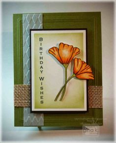 Vertical Greetings from Gina K Designs. Tutorial on Crafting The Web